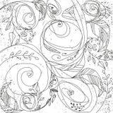 Αφηρημένη διανυσματική floral διακόσμηση Εκλεκτής ποιότητας ανασκόπηση διακοσμήσεων απεικόνιση αποθεμάτων
