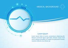 Αφηρημένη ιατρική ανασκόπηση μορίων επίσης corel σύρετε το διάνυσμα απεικόνισης Στοκ εικόνες με δικαίωμα ελεύθερης χρήσης