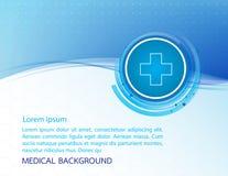 Αφηρημένη ιατρική ανασκόπηση μορίων επίσης corel σύρετε το διάνυσμα απεικόνισης Στοκ φωτογραφία με δικαίωμα ελεύθερης χρήσης