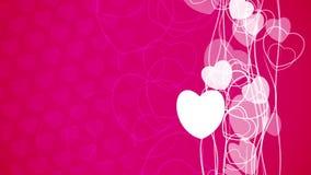 Αφηρημένη κάθετη ζωτικότητα μορίων καρδιών ροής διανυσματική απεικόνιση
