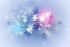 Αφηρημένη κάρτα χειμερινού χιονιού απεικόνιση αποθεμάτων