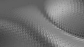 Αφηρημένη καθαρή γραπτή χαμηλή πολυ τρισδιάστατη επιφάνεια κυματισμού ως δημοφιλές περιβάλλον Γκρίζο γεωμετρικό δομένος περιβάλλο απεικόνιση αποθεμάτων