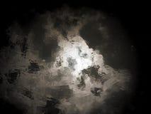 Αφηρημένη και σκοτεινή επιφάνεια νερού που απεικονίζει τη σύσταση ουρανού Στοκ εικόνες με δικαίωμα ελεύθερης χρήσης
