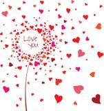 αφηρημένη καρδιά λουλου&d Στοκ εικόνες με δικαίωμα ελεύθερης χρήσης