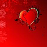 Αφηρημένη καρδιά στην κόκκινη ανασκόπηση απεικόνιση αποθεμάτων