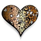 αφηρημένη καρδιά Στοκ Εικόνα