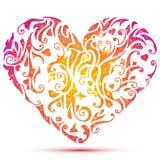 Αφηρημένη καρδιά βαλεντίνων Στοκ Εικόνα