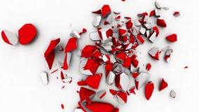 Αφηρημένη καρδιά που σπάζουν μετά από το βίντεο 1080 πτώσης HD (σε αργή κίνηση) απεικόνιση αποθεμάτων