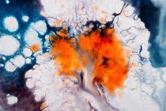Αφηρημένη καλλιτεχνική εικόνα του ζωηρόχρωμου παφλασμού Στοκ εικόνα με δικαίωμα ελεύθερης χρήσης