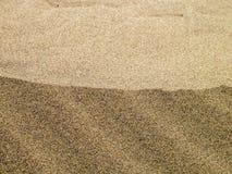 Αφηρημένη κινηματογράφηση σε πρώτο πλάνο άμμου Στοκ Εικόνα