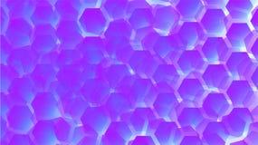 αφηρημένη κλίση ανασκόπησης Πορφυρά hexagons ελεύθερη απεικόνιση δικαιώματος