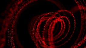 Αφηρημένη κόκκινη σπειροειδής κίνηση απόθεμα βίντεο