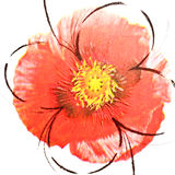 Αφηρημένη κόκκινη ταπετσαρία λουλουδιών Στοκ φωτογραφία με δικαίωμα ελεύθερης χρήσης