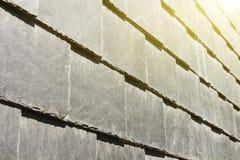 Αφηρημένη λεπτομέρεια των παλαιών κεραμιδιών στεγών πλακών Στοκ εικόνες με δικαίωμα ελεύθερης χρήσης