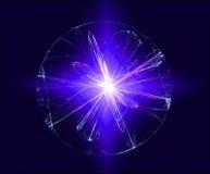 Αφηρημένη μαγική ελαφριά σφαίρα στοκ εικόνα με δικαίωμα ελεύθερης χρήσης