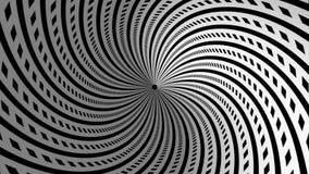 Αφηρημένη μαύρη άσπρη σήραγγα μήκους σε πόδηα υποβάθρου απεικόνιση αποθεμάτων