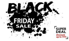 Αφηρημένη μαύρη αφίσα πώλησης Παρασκευής, έμβλημα Ιστού Στοκ φωτογραφία με δικαίωμα ελεύθερης χρήσης