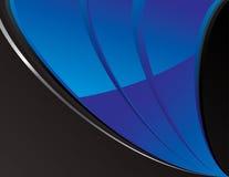αφηρημένη μαύρη μπλε τεχνο&lambda Απεικόνιση αποθεμάτων