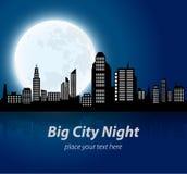 αφηρημένη μεγάλη εικόνα νύχτας πόλεων Στοκ φωτογραφία με δικαίωμα ελεύθερης χρήσης