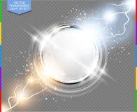 Αφηρημένη μετάλλων χρωμίου δαχτυλιδιών δύναμης διαφάνεια υποβάθρου επιστήμης διαφανής με το πρόσθετο σχήμα μόνο Στοκ φωτογραφία με δικαίωμα ελεύθερης χρήσης