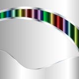 Αφηρημένη μεταλλική ανασκόπηση με τα πολύχρωμα λωρίδες Στοκ εικόνες με δικαίωμα ελεύθερης χρήσης