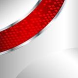 Αφηρημένη μεταλλική ανασκόπηση με το κόκκινο στοιχείο Στοκ φωτογραφία με δικαίωμα ελεύθερης χρήσης
