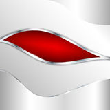 Αφηρημένη μεταλλική ανασκόπηση με το κόκκινο στοιχείο Στοκ εικόνα με δικαίωμα ελεύθερης χρήσης