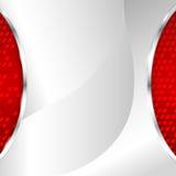 Αφηρημένη μεταλλική ανασκόπηση με το κόκκινο στοιχείο Στοκ Εικόνα
