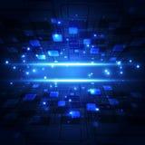 Αφηρημένη μελλοντική έννοια τεχνολογίας, υπόβαθρο απεικόνισης Στοκ φωτογραφία με δικαίωμα ελεύθερης χρήσης