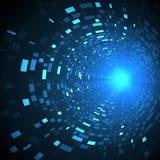 Αφηρημένη μελλοντική έννοια τεχνολογίας, cyber υπόβαθρο υψηλής τεχνολογίας Φουτουριστικό σχέδιο επιστήμης διανυσματική απεικόνιση