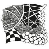 Αφηρημένη μονοχρωματική διακόσμηση zentangle Στοκ φωτογραφία με δικαίωμα ελεύθερης χρήσης