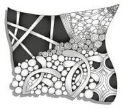 Αφηρημένη μονοχρωματική διακόσμηση zentangle Στοκ Φωτογραφία