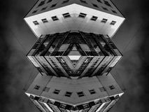 Αφηρημένη μοντέρνα συμμετρική τέχνη αρχιτεκτονικής Στοκ φωτογραφία με δικαίωμα ελεύθερης χρήσης