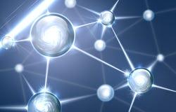 αφηρημένη μοριακή δομή Στοκ φωτογραφία με δικαίωμα ελεύθερης χρήσης
