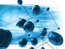 Αφηρημένη μοριακή μορφή Στοκ Εικόνες