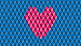 Αφηρημένη μορφή καρδιών υποβάθρου ρόδινη ελεύθερη απεικόνιση δικαιώματος