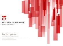 Αφηρημένη μορφή τετραγώνων τεχνολογίας κάθετη επικαλυμμένη γεωμετρική Στοκ Φωτογραφίες