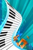 αφηρημένη μουσική καρτών διανυσματική απεικόνιση