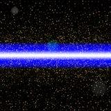 Αφηρημένη μπλε ακτίνα λέιζερ Απομονωμένος στη μαύρη ανασκόπηση Διάνυσμα ι Στοκ Φωτογραφίες