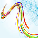Αφηρημένη μπλε ανασκόπηση με τις καμμμένες γραμμές. Διανυσματική απεικόνιση