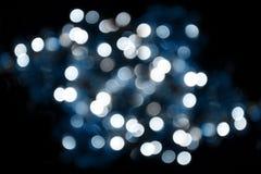 Αφηρημένη μπλε ανασκόπηση φω'των Στοκ Φωτογραφίες