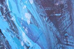 αφηρημένη μπλε εικόνα βουρτσών απεικόνιση αποθεμάτων