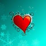 αφηρημένη μπλε καρδιά ανασ&ka ελεύθερη απεικόνιση δικαιώματος