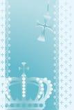 αφηρημένη μπλε κορώνα ανασ&ka διανυσματική απεικόνιση