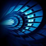 αφηρημένη μπλε πυράκτωση αν Στοκ φωτογραφία με δικαίωμα ελεύθερης χρήσης