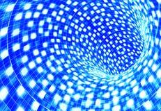 αφηρημένη μπλε σήραγγα Στοκ Φωτογραφία
