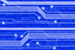 αφηρημένη μπλε τεχνολογί&alph Στοκ Φωτογραφία