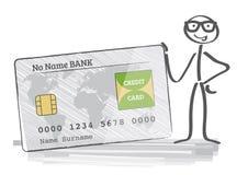 αφηρημένη μπλε πιστωτική φωτογραφία καρτών Στοκ Φωτογραφίες