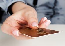 αφηρημένη μπλε πιστωτική φωτογραφία καρτών Στοκ Εικόνες