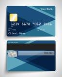 αφηρημένη μπλε πιστωτική φωτογραφία καρτών Στοκ εικόνες με δικαίωμα ελεύθερης χρήσης